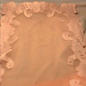 Dining - Estate Item - Peach - Pink Table Runner  28 x 12